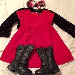 NWOT Toddler Girl 3T GAP Corduroy A-Line Dress